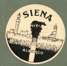 Collectable Hotel luggage label  ITALY La Toscana Siena #557
